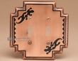 Rustic Southwestern Tin Switch Plate -Gecko