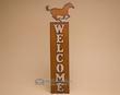 Rustic Western Metal Welcome Sign -Horse  (w27)