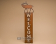 Rustic Cabin Metal Welcome Sign -Elk  (w28)