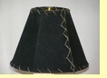 "Western Leather Lamp Shade - 8"" Black Pig Skin"