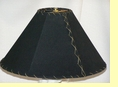 "Western Leather Lamp Shade - 18"" Black Pig Skin"