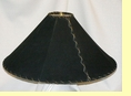 "Western Leather Lamp Shade - 24"" Black Pig Skin"