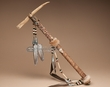 "Deer Antler Native American Tomahawk 20"" -Creek Tribe (t22)"