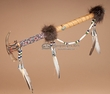 "Beaded Native American Antler Tomahawk 20"" -Creek  (t99)"