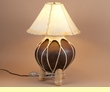 "Western Tarahumara Lamp & Rawhide Shade 22"" -Brown"