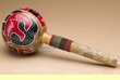 "Native American Indian Gourd Rattle 13"" -Fetish Bear  (101)"