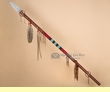"Pueblo Indian Leather Wrapped Lance 65""   (L12)"