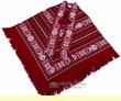 Otavalo Indian Woven Pancho -Dark Red  (p13)