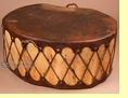 "Native Cottonwood Log Drum Table 35""x16"" -Clearance"