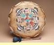 "Hand Painted Navajo Indian Drum 13""  (pd80)"