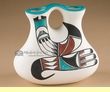 "Southwest Tigua Indian Wedding Vase - Rainbird 8"" (y)"