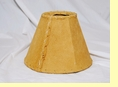 "Rustic Leather Lamp Shade - 8"" Sand Pig Skin"