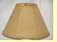 "Rustic Leather Lamp Shade - 12"" Sand Pig Skin"