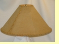 "Rustic Leather Lamp Shade - 20"" Sand Pig Skin"