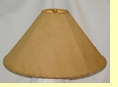 "Rustic Leather Lamp Shade - 22"" Sand Pig Skin"