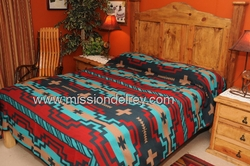 Western Indian Style Bedspread -Hopi Pattern QUEEN