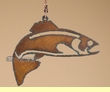 Rustic Metal Art Ceiling Fan Chain Pull -Fish   (10)
