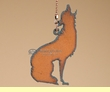 Southwest Ceiling Fan Metal Art Chain Pull -Wolf   (12)