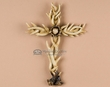 "Rustic Southwestern Lodge Antler Cross 10.5""  (c261)"