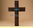 "Rustic Southwestern Beaded Wall Cross 13""  (22)"