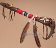 "Native American Antler Peace Pipe 18.5"" -Tigua"