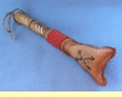 "Tarahumara Indian Rawhide Rattle 6"" -Rawhide Arrowhead  (138)"
