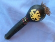 "Native American Chumash Indian Seaweed Rattle 7"" (121)"