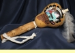 "Native American Indian Gourd Rattle 11"" - Zuni  (141)"
