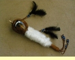 "Tarahumara Indian Gourd Rattle - 16"" Bear"