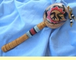 """Native American Indian Gourd Rattle 14"""" -Gecko  (98)"""