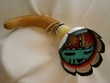 "Native American Navajo Indian Gourd Rattle 12"" -Sun Face (139)"