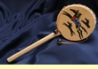 "Native Rawhide Drum Rattle 9"" -Horses"