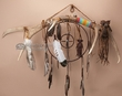"Elk Antler Medicine Stick Dream Catcher 35"" -Tigua (6)"