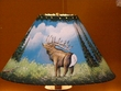 "16"" Painted Leather Lamp Shade -Elk"