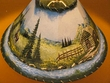 "Painted Leather Lamp Shade - 16"" Cabin  (PL16)"
