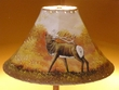 "16"" Painted Leather Lamp Shade -Elk  (PL7)"