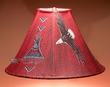"Rustic Hand Painted Leather Lampshade -Eagle  15"" (OL6)"