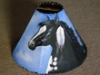 Painted Leather Lamp Shade -Black Beauty 15""