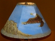 "14"" Painted Leather Lamp Shade - Eagle/Pueblo"