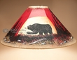 "20"" Painted Leather Lamp Shade -Moonlit Bear"
