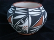 Native American Pottery Vase 4x3 -Acoma (125)