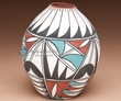 "Native American Tigua Indian Pottery Vase 4""   (ae)"