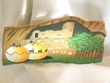 Native American Navajo Rock Painting 12x7 -Pueblo Pottery  (dd9)