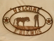 Western Iron Art Welcome Plaque -CLEARANCE