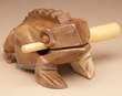 "XLg. Carved Wooden Instrument -Croaking Frog 4""x7""  (f11)"
