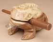 "Lg. Carved Wooden Instrument -Croaking Frog 3""x5""  (f12)"