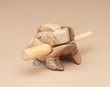 "Tiny Carved Wooden Instrument -Croaking Frog 1.75x2.5""  (f15)"