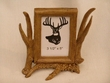 Faux Deer Antler Picture Frame  7x7