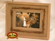 Western Barn Wood & Barbed Wire Picture Frame for 4x6