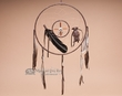 "Navajo Medicine Wheel Dream Catcher 12"" -Brown  (D12-6)"
